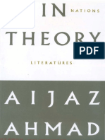 Ahmad Aijaz in Theory Classes Nations Literatures