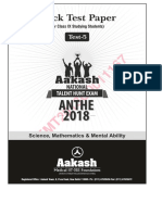 Anthe Mock Test 5 Ix 2018