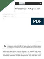 As 22 Maiores Palavras Da La Ngua Portuguesa Com s