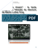 I Have a Dream Français Martin Luther King