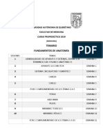 Temario Modulo Anatomia 2019
