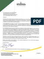 Lettre du premier ministre Blaine Higgs à la secrétaire générale de la Francophonie Louise Muchikiwabo