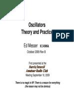 Oscillators Theory and Practice