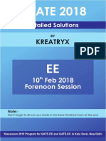 Kreatryx GATE EE 2018 Solutions