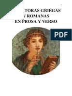 Escritoras Griegas y Romanas en Prosa y Verso