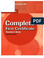 Cambridge Complete First Certificate (Teacher´S Book)