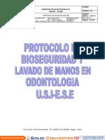 Protocolo de Bioseguridad y Lavado de Manos