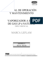 Manual Vaporizador 512 s y d Gas Nat y Lp