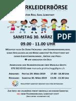 Flyer Kinderkleiderbörse Leibstadt 2019 - Frauenträff