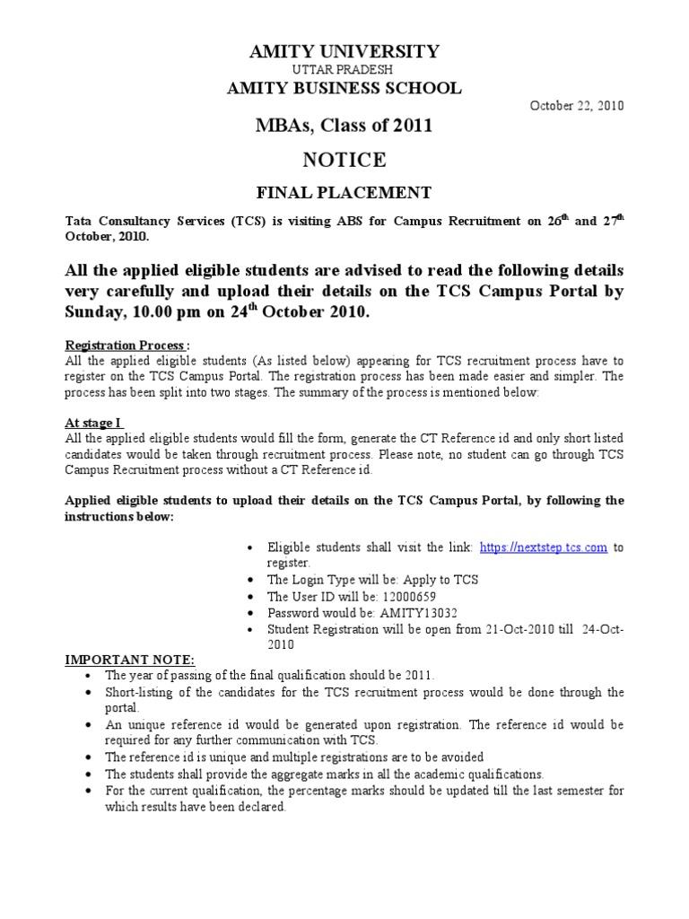 1e7datcs campus recruitment register on tcs campus portel