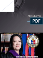Article VIII Judiciary Branch consti
