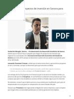 13-02-2019 - Se estiman 55 proyectos de inversión en Sonora para este 2019 - Tribuna.com.mx