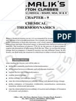 9. Chemical Thermodynamics