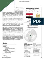 Egipto - Wikipedia, La Enciclopedia Libre