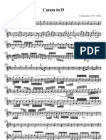 Partitura - Pachelbel - Canon in D (Violin I, II, III)