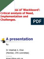 Presentation on Blackboard Effectiveness_presented