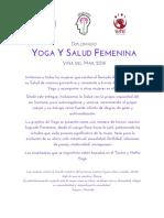 Diplomado Yoga y Salud Femenina Espacio Raíz 2019