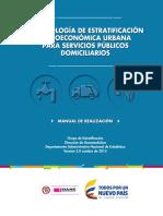 Metodologia 2017 de Estratificación Urbana_Manual de Realización