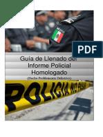 Guía de informe policial homologado 2019