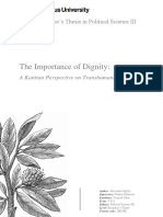 [Alexander Hjelm] the Importance of Dignity - A Kantian Perspective on Transhumanism