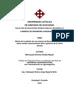 [TESIS] Efecto de La Adición de Una Mezcla de Bromelina y Papaína Sobre Ciertas Características Físicoquímicas de La Carne Vacuna