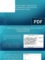 Transición Vítrea y Formación de Hielo en Alimentos