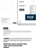 Sony c3 Manual