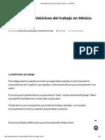 Antecedentes Históricos Del Trabajo en México