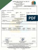 Certificados de Equipos de Medicion