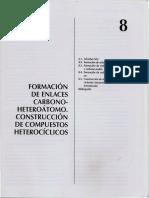 Capítulo 8 Formación de Enlaces Carbono Heteroátomo. Construcción de Compuestos Heterocíclicos. Síntesis Orgánica. José Borrell
