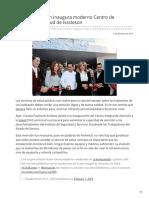 08-02-2019 Claudia Pavlovich inaugura moderno Centro de Atención a la Salud de Isssteson - LNN