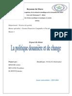 Politique douanière et de change