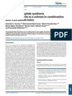Acosta, G. A.,  Albericio, F. (2009). Solid-phase peptide synthesis using acetonitrile as a solvent in combination with PEG-based resins. Journal of Peptide Science, 15(10), 629–633..pdf