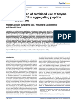 Caporale, A., Doti, N., Sandomenico, A., & Ruvo, M. (2017). Evaluation of Combined Use of Oxyma and HATU in Aggregating Peptide Sequences. Journal of Peptide Science, 23(4), 272–281.