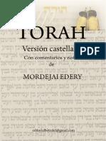 Torah Version Castellana Con Comentarios - Mordejai Edery