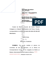 Resolución de recurso de queja FGR