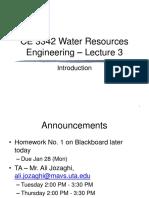 CE3342 Lecture 3