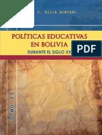 Politicas Educativas en Bolivia TOMO II.