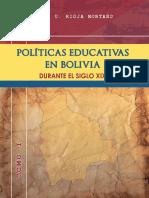 Politicas Educativas en Bolivia TOMO I.p