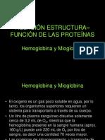 Hemoglobina y Mioglobina Relacion Estructura Funcion