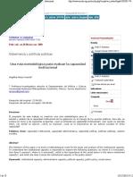 CAPACIDAD INSTITUCIONAL medicion