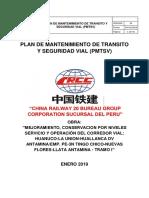 Plan de Mantenimiento de Transito y Seguridad Vial