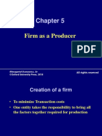 320 33 Powerpoint Slides Chapter 5 Firm as Producer