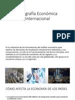 Geografía Económica Internacional