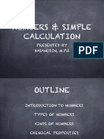 1st Topic (Numbers and Simple Calculation)