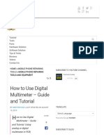 How to Use Digital Multimeter - Guide and Tutorial