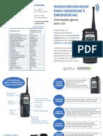Manual Radio Comunicador HUWC