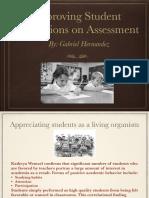 improving student perceptions on assessment
