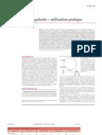 Anticoagulants – utilisation pratique