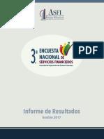 3ra Escuesta Nacional de Servicios Financieros